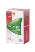 Nicorette 2 Mg Gomme à Mâcher Médicamenteuse Sans Sucre Fruits Plq/105 à TOURS