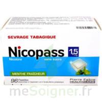Nicopass 1,5 Mg Pastille Sans Sucre Menthe Fraîcheur Plq/96 à TOURS