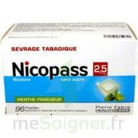 Nicopass 2,5 Mg Pastille Menthe Fraîcheur Sans Sucre Plq/96 à TOURS