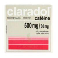Claradol Cafeine 500 Mg/50 Mg, Comprimé Effervescent à TOURS