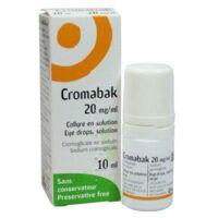 Cromabak 20 Mg/ml, Collyre En Solution à TOURS