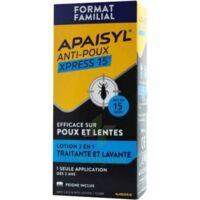 Apaisyl Anti-poux Xpress 15' Lotion Antipoux Et Lente 200ml+peigne à TOURS